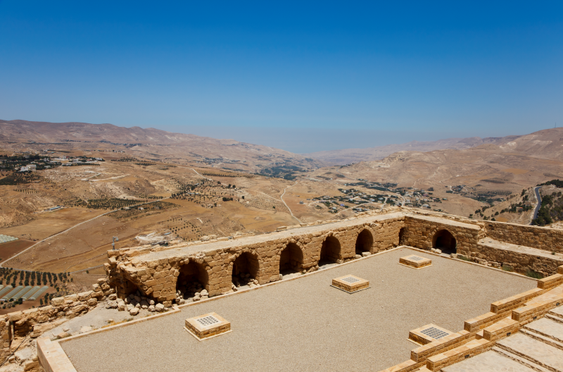 View from Karak Castle Jordan