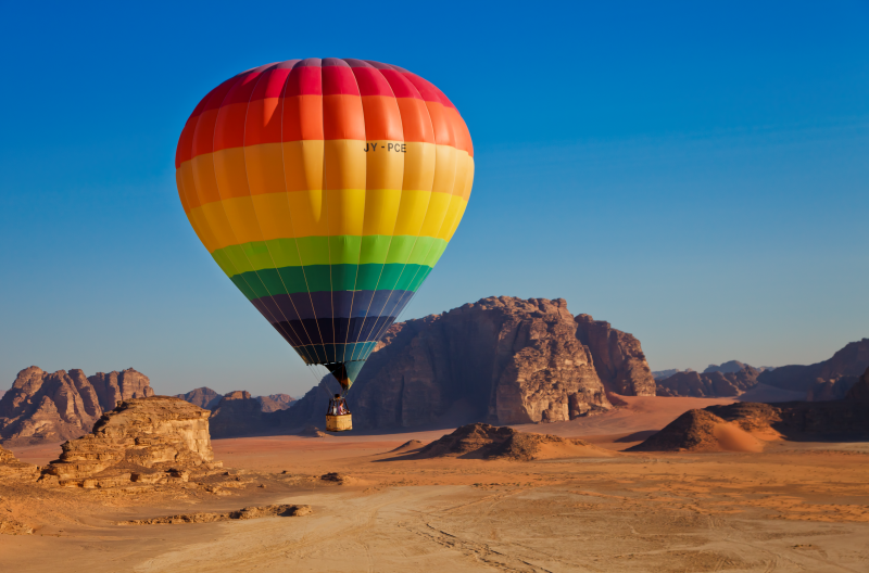 Wadi Rum, Jordan Hot aIr Balloon