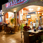 local street cafe evening aqaba