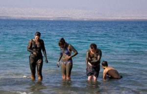 mud at dead sea jordan