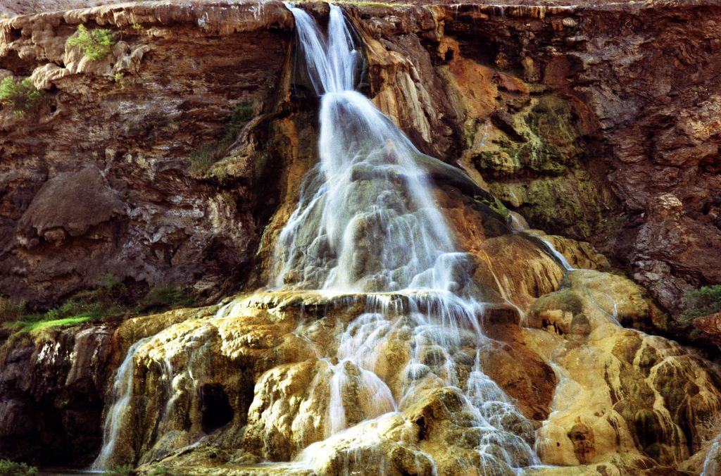 waterfall hammamat main jordan