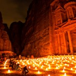 Petra By Night candles treasury al khazneh jordan