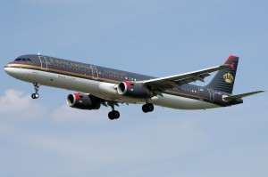 Royal jordanian aeroplane flight