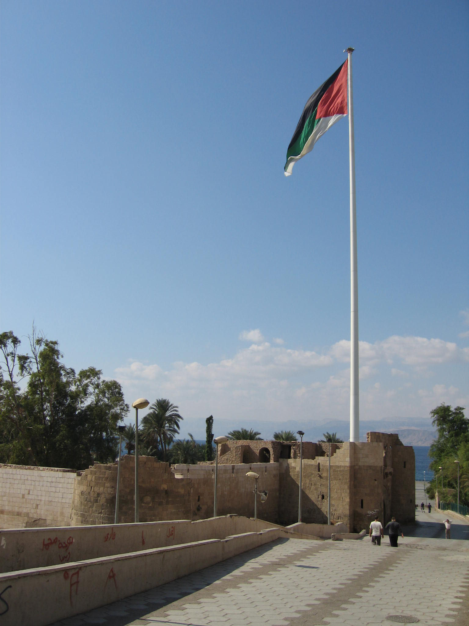 arab revolt, mamluk fort aqaba, high flag
