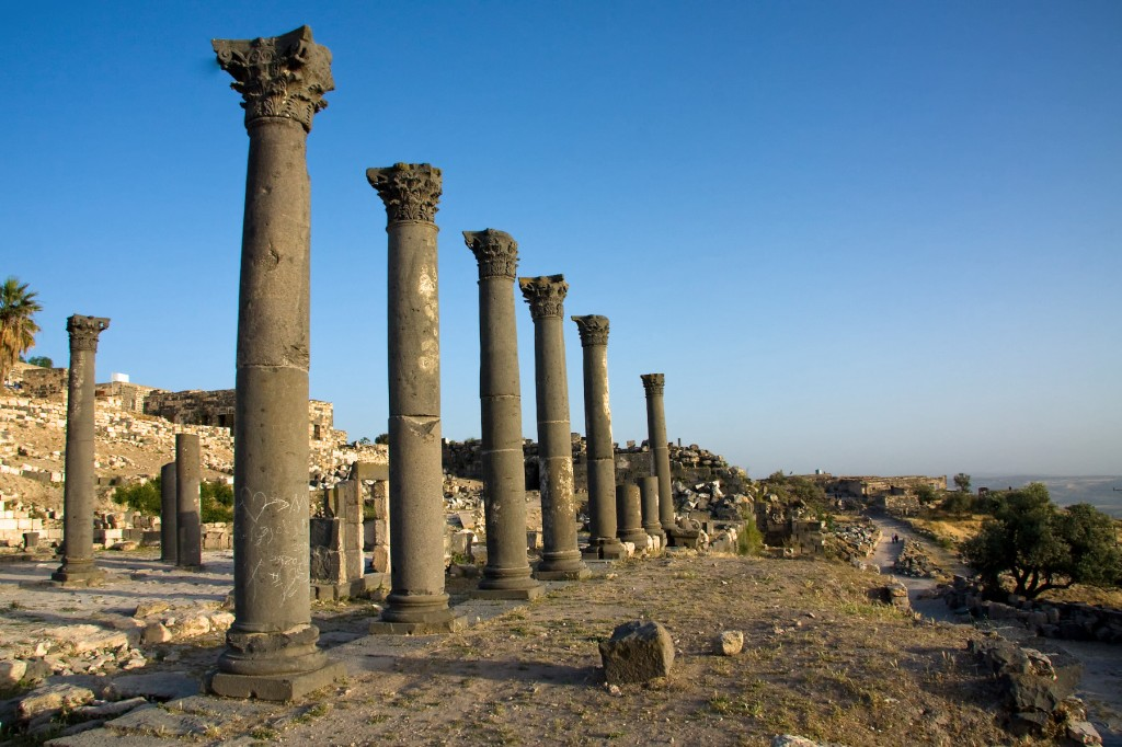 church terrace columns umm qais jordan