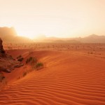 Wadi rum desert red sands