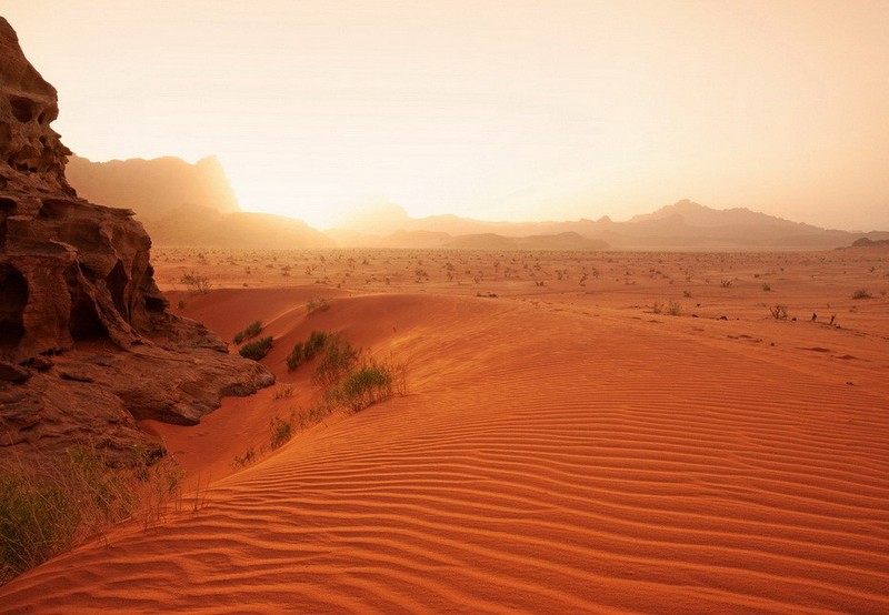 red sands wadi rum jordan