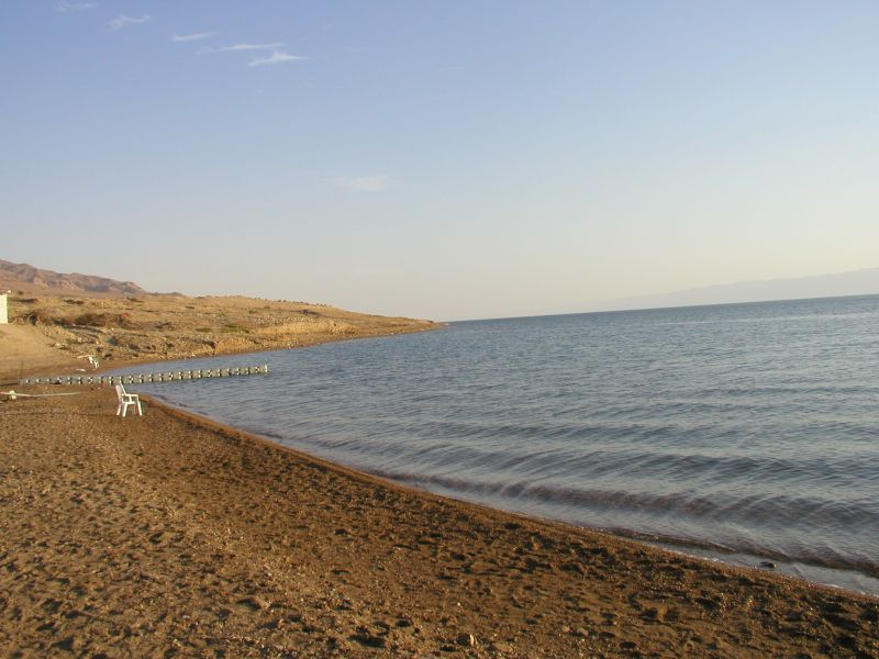 beach at dead sea jordan
