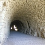 tunnel in Karak castle jordan