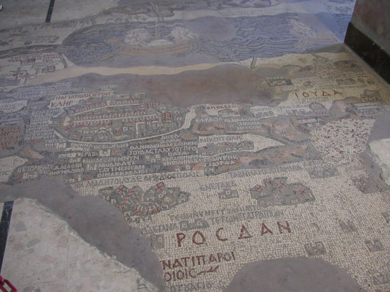 mosaic map, madaba, jordan
