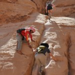 scrambling in wadi rum