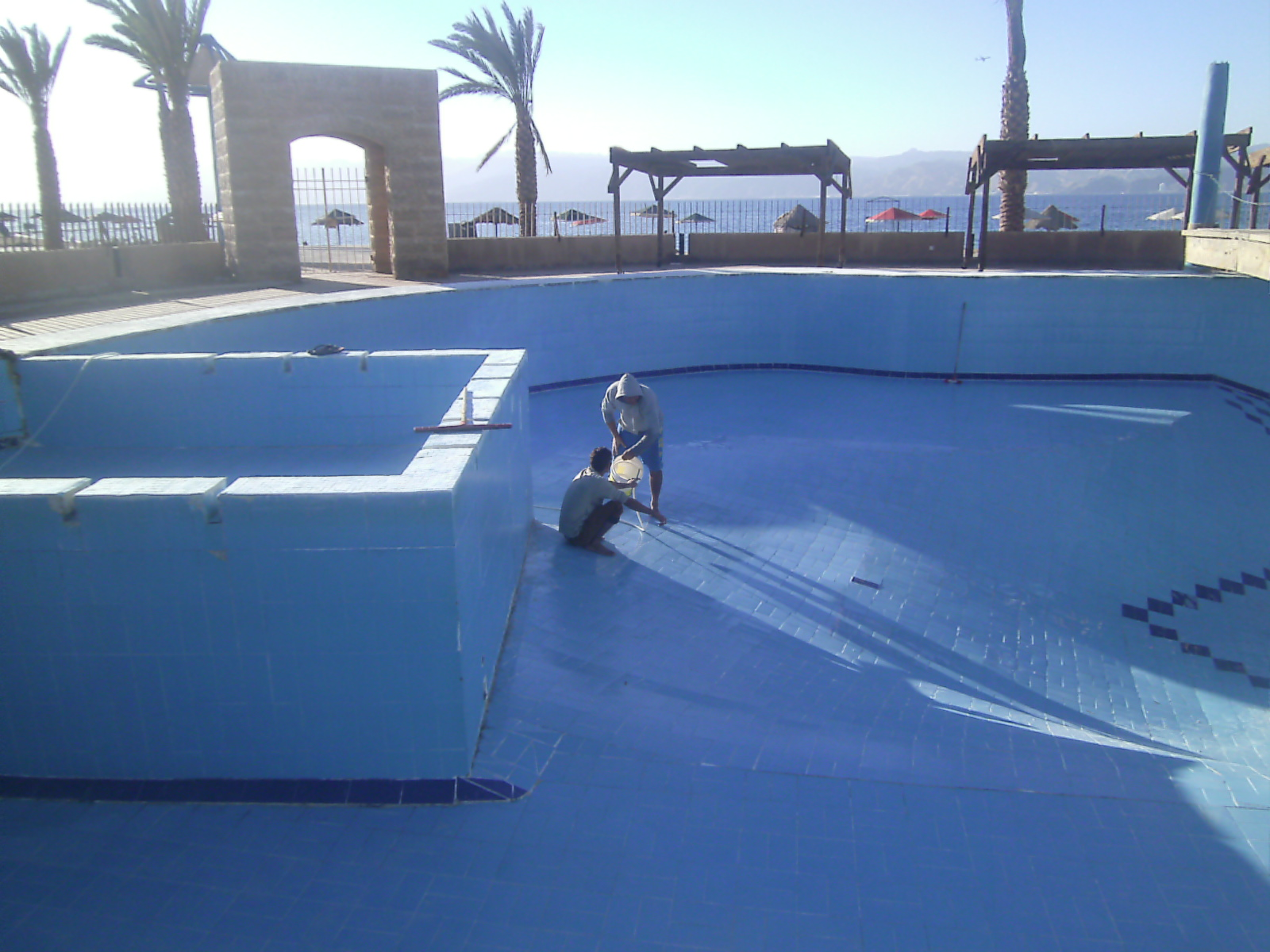 New pool at Club Murjan, Aqaba, Jordan