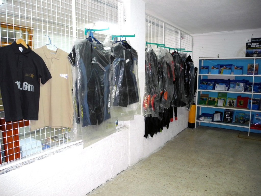 diving equipment shop at SeaStar Water SPorts, Club Murjan, Aqaba, Jordan