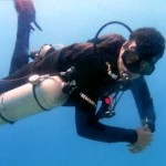 side mount diver aqaba red sea jordan
