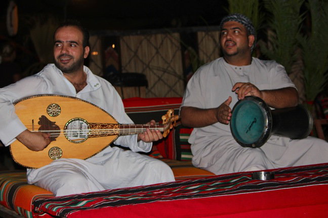 Bedouin music in a camp in wadi rum, jordan