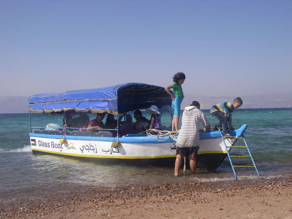 glass bottom boat beach aqaba jordan