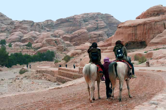 horse riding in Petra, Jordan