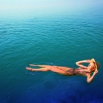 floating at the Kempinski Ishtar Hotel, Dead Sea Jordan