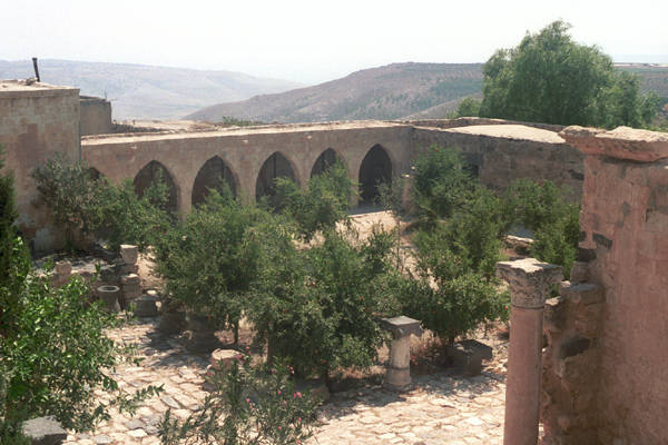 Courtyard in Umm Qaid Jordan