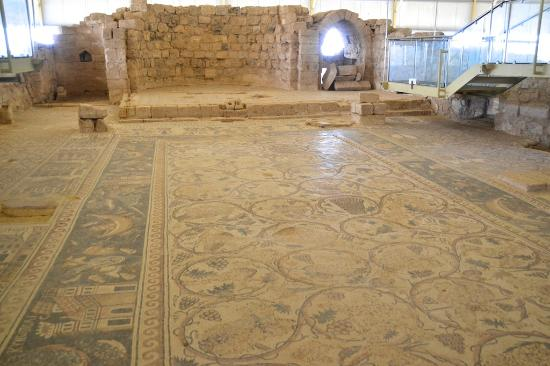mosaic flooring of Saint Stephen's Church Umm Al Rasas