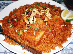 sayyadiah, fish and rice, aqaba food, seafood, traditional jordan food